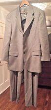 Ralph Lauren Brown Check 3 Button Jacket & Pants Suit  46T 38 X 31