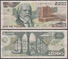Banco De Mexico, 2,000 Pesos, 1987, VF++, P-86(b)