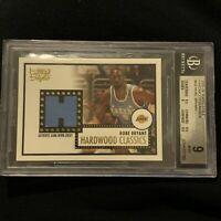 2005 Topps 1952 Style Hardwood Classics Kobe Bryant Jersey BGS 9 MINT Rare