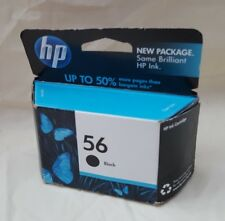 HP 56 Black Ink Cartridge C6656AN  Factory Sealed Box Date: October 2011