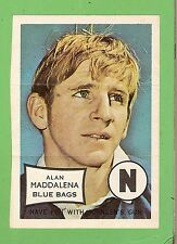 #D312. 1970 SCANLENS MINI POSTER - ALAN MADDALENA, NEWTOWN BLUE BAGS ( JETS )