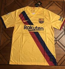 Lionel Messi #10 FC Barcelona Yellow Jersey La Liga Edition - Size LARGE