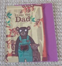 I Love You Dad Forest Bears Blank Greetings Card