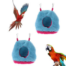 New listing Birds Parrot Warm Hammock Plush Nest Cave Hanging Cage Bird house Tent Bed Vm