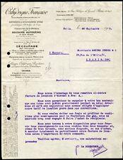 █ Facture 1912 OXHYDRIQUE FRANCAISE Oxygéne et Hydrogéne Purs Chalumeaux Pyrox █