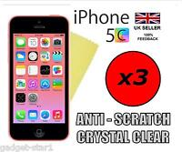 3x HQ CLEAR SCREEN PROTECTOR COVER LCD FILM GUARD FOR NEW APPLE IPHONE 5 5S 5C