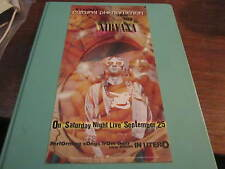 NIRVANA PROMO SATURDAY NIGHT LIVE 1993 GIG CARD CULTURAL PHENOMENON 1993