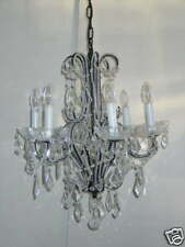 LED Deckenleuchte Ravenna 5flammig Metall Kristallbehang klar Kronleuchter Lampe