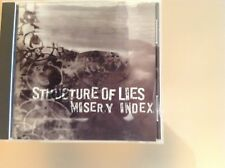 STRUCTURE OF LIES & MISERY INDEX CD - VERY GOOD CONDITION
