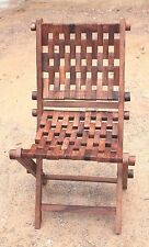 Wooden Relaxing Folding Chair New Handcrafted Carved Home Decor