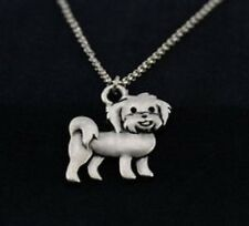 MALTESE DOG Charm, Pendant with .925 Silver Necklace - R223