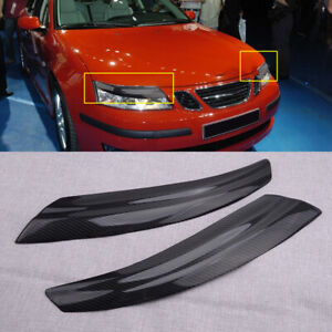 Fit for Saab 9-3 2002-2006 Front Headlight Lamp Trim Cover Light Brows Bezel