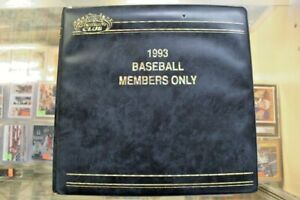 1993 Stadium Club Baseball Members Only Complete Factory Set, COA, Master Photos