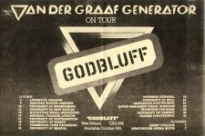 VAN DER GRAAF GENERATOR Godbluff Tour 1975  UK Press ADVERT 12x8""