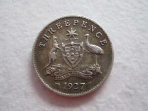1927 threepence coin