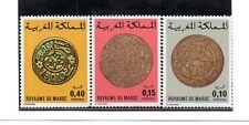 Marruecos Moneda sobre sello valores del año 1976-77 (BT-984)