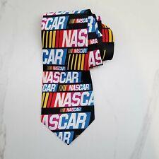 Ralph Marlin NASCAR Logo Repeat Necktie Stock Car Auto Racing Black Colorful Tie