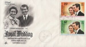 Grenada Grenadines -1973 Wedding of Princess Anne and Mark Philips FDC - Cachet