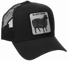 "Goorin Bros. Animal Farm Trucker Snapback Hat Cap All Black/""Black Sheep"""