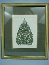 Framed Christmas Tree Print by Pinckney Ferguson - #26/200 Signed