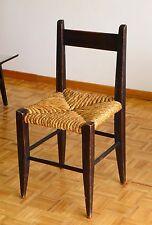 Chaise patinée noir vintage design