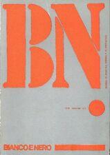 BIANCO E NERO, Mensile di studi sul cinema e lo spettacolo. Maggio/Giugno 1970