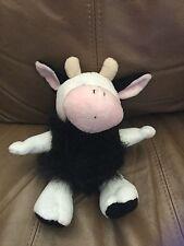 "Cow 8"" Black White Pink  Sound PMS International Stuffed Animal Lovey"