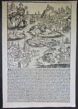 1493 BAVARIA xilografia Liber Chronicarum Cronache Norimberga Baviera Schedel
