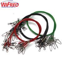 25Pcs 150LB Fly Fishing Lead Line Leader Wire Stainless Steel Rolling Swivels
