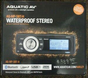 NEW AQUATIC AV AQ-MP-5BT-H PLUG&PLAY HARLEY TOURING WATERPROOF STEREO BLUETOOTH