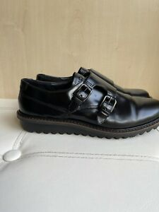 Ecco Black Leather Women's Shoes, Buckle Fastening, Size 5 (EU 38) NEW