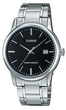 Casio MTP-V002D-1A Men's Standard Analog Stainless Steel Date Black Dial Watch