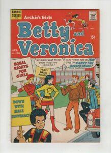 BETTY AND VERONICA #196 VF-, Dan DeCarlo Women's Lib cover & art, Archie 1972