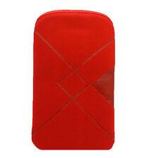 Funda Roja de Terciopelo para Telefono Movil Samsung Galaxy Ace 2 i8160 2184