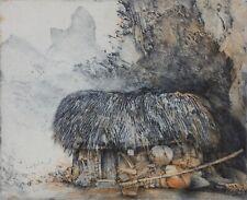 JORG SCHMEISSER-Polish/German Artist-Hand Signed LIM.ED Etching-Hut/Landscape