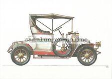 RENAULT VOITURETTE 1911 Acuarelas presión POSTALES AK Coche Imagen de colección