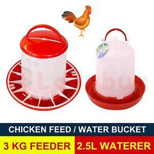 Chicken 2.5L Drink / 3kg feeder Bird aviary chook poultry & drinker waterer