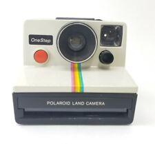 Vintage Polaroid SX-70 One Step White Rainbow Stripe Instant Land Camera VTG