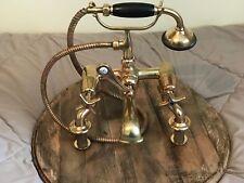 Lot de Vieux Laiton Massif BELCO salle de bain douche Mélangeur Robinets remis à neuf RARE