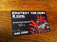 PROTEST THE HERO Z Song Download Card TRIVIUM Concert Tour Decibel Vagrant RARE
