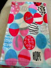 "Easter Eggs Hope Love Kitchen Hand Towel 16""x26"" 100% Cotton Pink Breast Cancer"