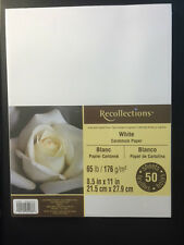 """Recollections """"WHITE"""" Cardstock Paper 8.5"""" x 11""""  50 sheets"""
