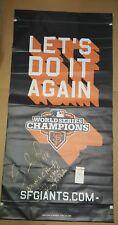 PABLO SANDOVAL Signed 2012 San Francisco Giants Street Banner. JSA