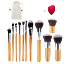11Pcs+1 Makeup Brushes Set Professional Bamboo Handle Brush Premium Goat Hair
