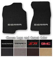 GMC Sierra 2pc Classic Loop Carpet Floor Mats-Choice of Carpet Color & Logo