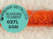 Kreinik Blending Filament 027L Orangeruptis Holographic Metallic Thread 50M