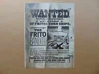 1968 WANTED POSTER THE FRITO BANDITO vintage art print ad