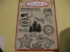 A4 Sheet of 14 :- The Merry & Bright Christmas Resin Stamps