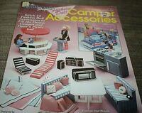 Barbie Plastic Canvas Pattern Book Camper Accessories BBQ Picnic Table  -EEEE )