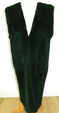 DYED SHEARED GREEN OPOSSUM FUR VEST INSIDE COAT  LENGTH 43''  Sz.M n42